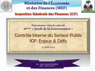Ministère  de  l'Économie et des Finances (MEF)