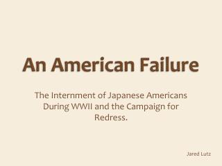 An American Failure