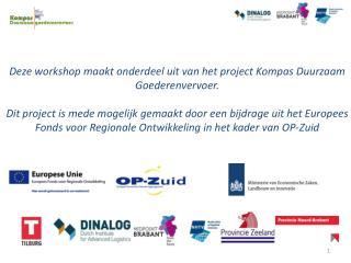 Deze workshop maakt onderdeel uit van het project Kompas Duurzaam Goederenvervoer.
