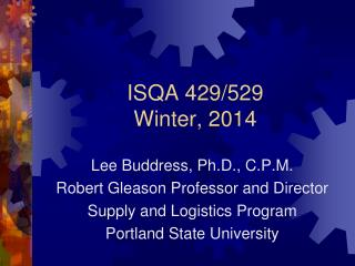 ISQA 429/529 Winter,  2014