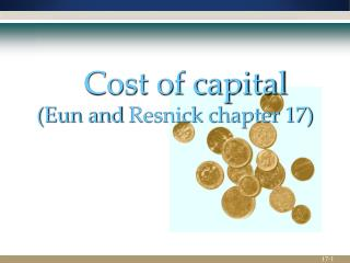 Cost of capital ( Eun  and  Resnick  chapter 17)