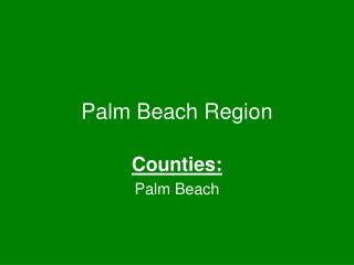 Palm Beach Region