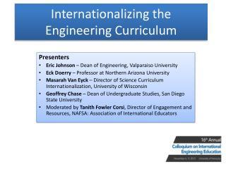 Internationalizing the Engineering Curriculum