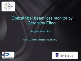 Optical fiber beam loss monitor by Cerenkov Effect