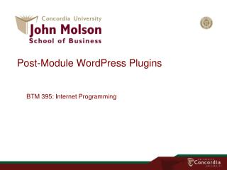 Post-Module WordPress Plugins