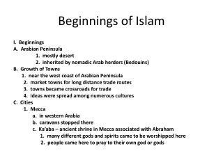 Beginnings of Islam