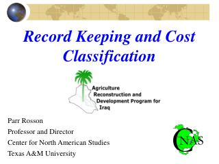 Record Keeping and Cost Classification