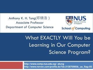 What EXACTLY Will You be Learning in Our Computer Science Program?