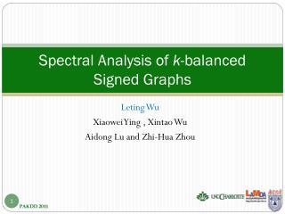 Spectral Analysis of  k -balanced Signed Graphs