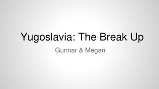 Yugoslavia: The Break Up