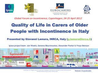 Quality of Life in Carers of Older People with Incontinence in Italy