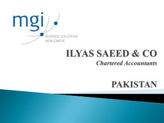 ILYAS SAEED & CO Chartered Accountants PAKISTAN