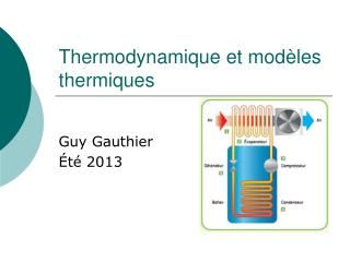 Thermodynamique et modèles thermiques