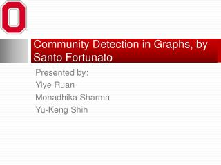 Community Detection in Graphs, by Santo  Fortunato