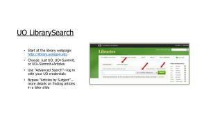 UO  LibrarySearch