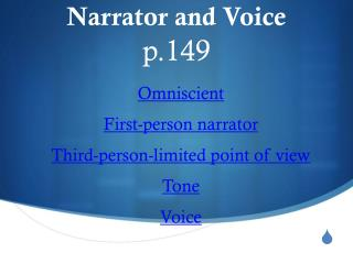 Narrator and Voice p.149