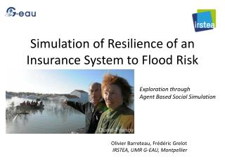 Simulation of Resilience of an Insurance System to Flood Risk
