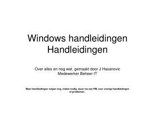 Windows7 Installeren