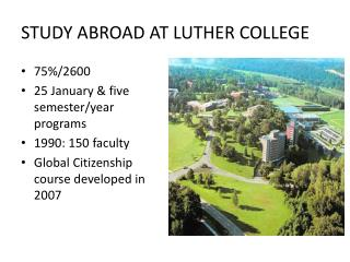 STUDY ABROAD AT LUTHER COLLEGE