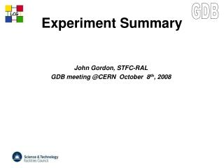 Experiment Summary