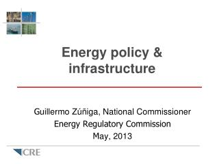 Energy policy & infrastructure
