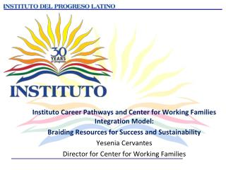 Instituto Career Pathways and Center for Working Families Integration Model: