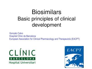 Biosimilars Basic  principles  of  clinical development