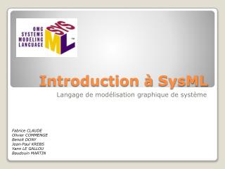 Introduction à  SysML