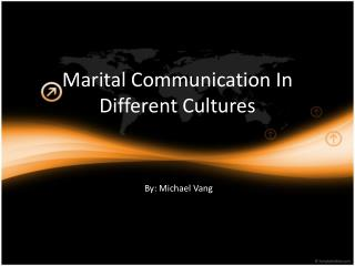 Marital Communication In  Different  Cultures