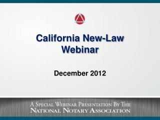 California New-Law  Webinar