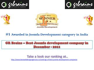 GR Brains � Best Joomla development company in December - 20