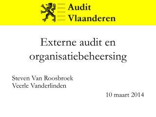 Externe audit en organisatiebeheersing