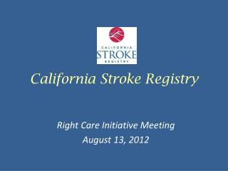 California Stroke Registry