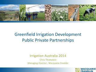 Greenfield Irrigation Development Public Private Partnerships