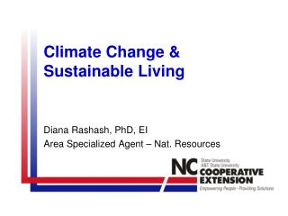 Climate Change  Sustainable Living