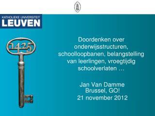 Brussel, GO! 21 november 2012
