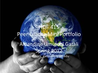 HDF 415 Peer Leader Mini Portfolio
