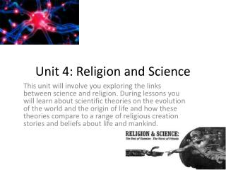 Unit 4: Religion and Science