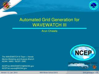 Automated Grid Generation for WAVEWATCH III