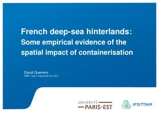 French  deep - sea  hinterlands: Some empirical evidence  of the