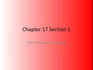 Chapter 17 Section 1