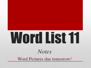 Word List 11