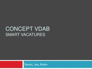 Concept VDAB  smart vacatures