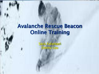 Avalanche Rescue Beacon Online Training  Sara Kalantari Denny Lau