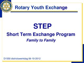 Rotary Youth Excha nge