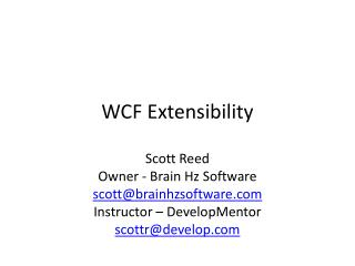 WCF Extensibility