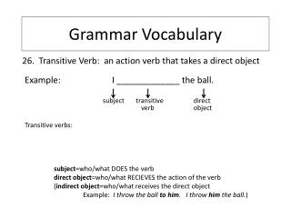 Grammar Vocabulary