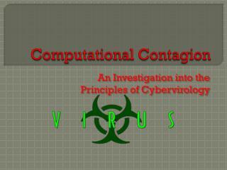 Computational Contagion