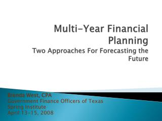 Multi-Year Financial Planning 9703-1 version