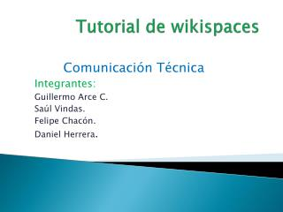 Tutorial de wikispaces